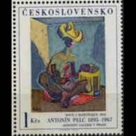 CZECHOSLOVAKIA 1973 - Scott# 1908 Pelc Painting 1k MNH - Unused Stamps