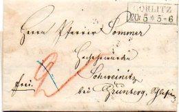 L055  Gorlitz  1856  Cachet 2 Lignes Encadrées  Avec Texte (facture D´1 Pharmacien) Pour Schweinitz - Germany