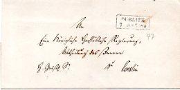 L063 Bublitz  Cachet 2 Lignes Encadrées De 1887 - [1] Prephilately