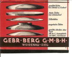 Weidenau-Sieg. Gebr. Berg. Geschäftskarte - Alemania