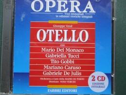 CD Edizione Fabbri Editore OTELLO N.2 CD Edizione Integrale Mario Del Monaco Gabriella Tucci - Klassik