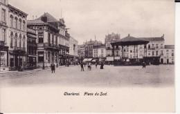 CHARLEROI -- Place Du Sud + Commerces + Animation + Kiosque à Musique ( Dos NON Divisé ) - Charleroi