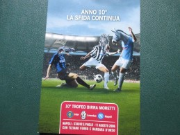 2006 10 Trofeo Birra MORETTI Napoli Stadio San Paolo Inter Juventus Napoli - Soccer