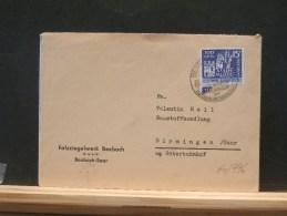 60/796  LETTRE.  SAARLAND - 1957-59 Federazione