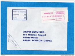 MARCOPHILIE-NLLE CALEDONIE-Lettre Cad 1989 Nouméa Sud -+étiquette  Rouge 0,76 -Pour Françe - Briefe U. Dokumente