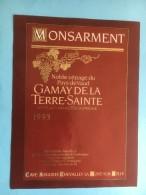 1169 -  Suisse Vaud Monsarment Gamay De La Terre-Sainte 1993 - Etiquettes