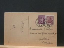 60/761  CP ALLEMAGNE POUR LA BELG.  1922 - Lettres & Documents