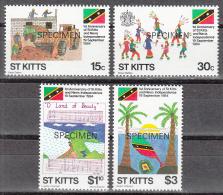 St Kitts   Scott No. 157-60   Mnh   Year  1984    Specimen Overprint - St.Kitts-et-Nevis ( 1983-...)