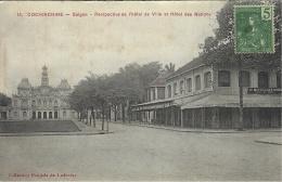 13-SAIGON - Perspective De L'Hôtel De Ville Et Hôtel Des Nations -ed.Poujade De Ladevèze - Vietnam