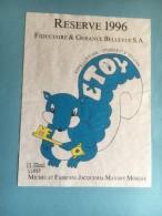 1184 -  Suisse Vaud Etoy 1996 Réserve De La Fiduciaire & Gérance Bellevue Ecureuil - Etiquettes
