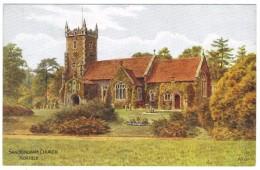 Sandringham Church, Norfolk By A R Quinton - Salmon No 3878 - Unused - Quinton, AR