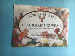 1194 - Beaujolais Nouveau Georges Duboeuf 2 étiquettes - Beaujolais