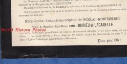 Document Ancien De 1898 - Marie Louise Alexandrine Delphine De NICOLAU MONTRIBLOUD - Vve Du Comte DURIEU De LACARELLE - Documents Historiques