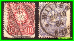 ALEMANIA - GERMANY   ( EUROPA ) IMPERIO ALEMAN  2 SELLOS  AÑO -1875-77 - Gebraucht