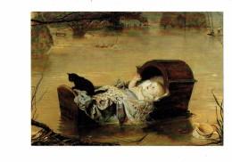 CPSM - Bébé Et Chat Noir Dans Un Berceau Sur L'eau Pot Cruche - Inondation - A FLOOD - Sir JOHN EVERETT MILLAIS - Baby's