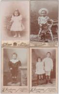 CDV-CARTE DE VISITE-PHOTO-KIND-ENFANT-CHILD-LOT-4 PHOTOS-PHOTO-SAMSON+BERGER-LIEGE+DARDENNE-JEMEPPE-VOYEZ-6 SCANS! - Personnes Anonymes
