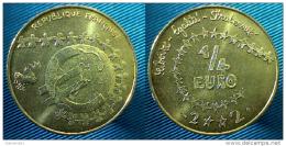 """1 Euro Precourseur 1/4 EURO, """"Enfant 2002"""" , Jeton, Medaille,  RRRR, UNC - Frankreich"""