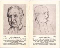 RONSE Z.E. HEER S.M. GLORIEUX Stichter Broeders O.l.v. Lourdes 1872 - 1947 2 Postkaarten!! - Renaix - Ronse