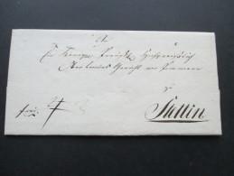 AD Vorphila 19. Jahrhundert Gerichtspost Schwerin Nach Stettin. Siegel Schwerin Gerichts Siegel. Bartaxe - Mecklenburg-Schwerin