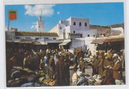 Morocco/Germany TETUAN THE GUERSA EL KEBIRA SOCCO POSTCARD 1987 - Sonstige