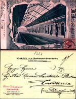 847k) Cartolina -di Catania-interno Della Stazione Centrale-viaggiata La Foto Esce Dal Gionale Il Messaggero - Catania