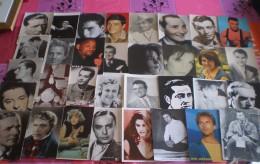 LOT De 60 Cartes PHOTO D' Artistes : Acteurs, Chanteurs, - Célébrités