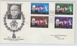 Mauritius SIR WINSTON CHURCHILL FDC 1966 - Sir Winston Churchill