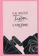 Cartes Parfumées  Carte Lancôme LA NUIT TRÉSOR - Perfume Cards