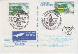 Austria Postal Stationery Postcard Europa 1988 Travelled To USA B160711 - Stamped Stationery