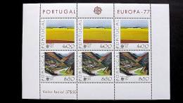 Portugal 1360/1 Block 20 **/mnh, EUROPA/CEPT 1977, Landschaften - Blocks & Sheetlets