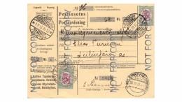 Finland Money Order Card From Helsinki To Siilinjärvi 23.4.27 - Brieven En Documenten