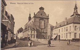 Wavre - Place De L´Hôtel De Ville (animée, Café Du Théâtre,1928...) - Waver