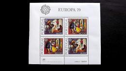 Portugal 1441/2 Block 27 **/mnh, EUROPA/CEPT 1979, Geschichte Des Post- Und Fernmeldewesens - Blocs-feuillets