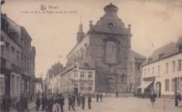 Wavre - L'Hôtel De Ville, La Poste, La Rue De Nivelles (animée, Edit. Delhaize....taches) - Waver