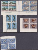 1968 Mexico Greece 1967 PreOlympic Games Set Block 4 MNH - Summer 1968: Mexico City