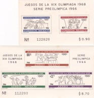 1968 Mexico 1966 Mexico PreOlympic Issue MNH - Summer 1968: Mexico City