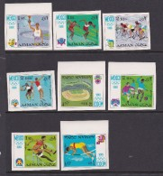 1968 Mexico Ajman Olympic Set Imperforated MNH - Summer 1968: Mexico City