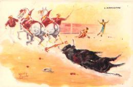 Corrida Tauromachie - Corrida à Méjanes, L'Arrastre (illustrateur Henry Couve) - Corrida