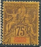 Grande Comore  - Yvert N°12(*)  - Abc0416 - Grande Comore (1897-1912)