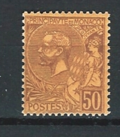 "Monaco YT 18 "" Prince Albert 1er 50c. Brun Sur Orange "" 1891-94 Neuf ** - Monaco"