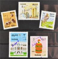 Sudan 1992 Michel Nr. 460-64 Freimarken Mit Handstempel-Aufdruck - Sudan (1954-...)