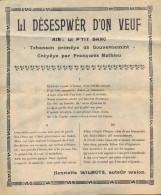 Chanson En Wallon: Auteur: Henriette Wilmots - Li Désespwèr D'on Veuf . - Collections