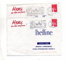 Lettre Flamme Seurre Piscine Maison Bossuet  2 Types - Postmark Collection (Covers)