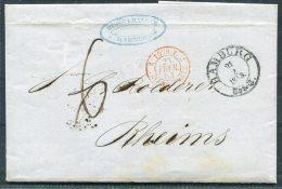 1853 Hamburg Entire - Rheims France - Hamburg
