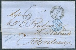 1863 Hamburg - Bordeaux France - Hamburg