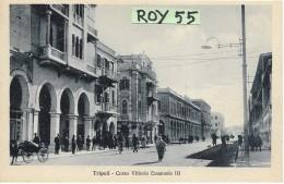Libia Ex Colonia Italiana Tripoli Corso Vittorio Emanuele III Animatissima Veduta - Libya
