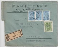 Dr. Albert Singer Registered Company Letter Travelled 192? B160711 - Storia Postale