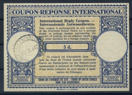 SOUTH AFRICA London Type XIV 5d. International Reply Coupon Reponse IAS IRC Antwortschein O BEZ. VALLEY 11.II.47 - Briefe U. Dokumente