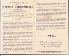 Cyrille Vandommele (1897-1956) - Images Religieuses