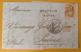 FRANCIA. FATTURA COMMERCIALE DA LYON A PADOVA  IN DATA 29 /5/1869 - Sin Clasificación